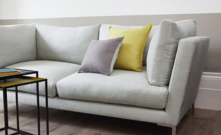 Three seater sofa in Romo Milani Linen fabric