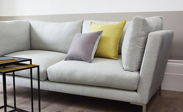 Three seater sofa in Romo Milani Linen fabric