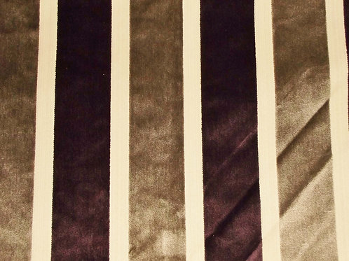 Eleganza Broad Stripe Grey/Damson / SR17263