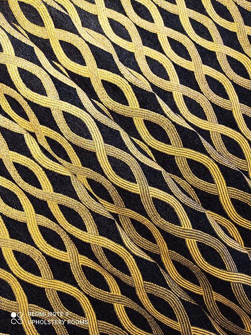 Remnant- Gold & Black Chenille- 3 M