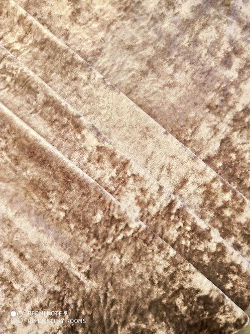 Remnant-  Velvet- Cream- 3.40 Metres
