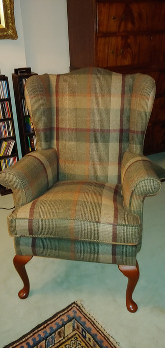 Parker Knoll Wing chair in Abraham Moon Wool