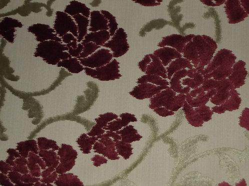 Eleganza Large Floral Cranberry / SR17303