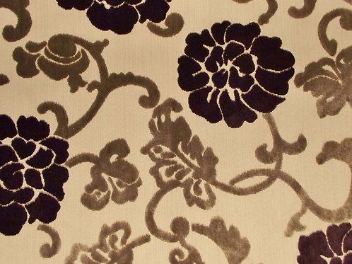 Eleganza Floral 2 Colour Damson/Grey / SR17253