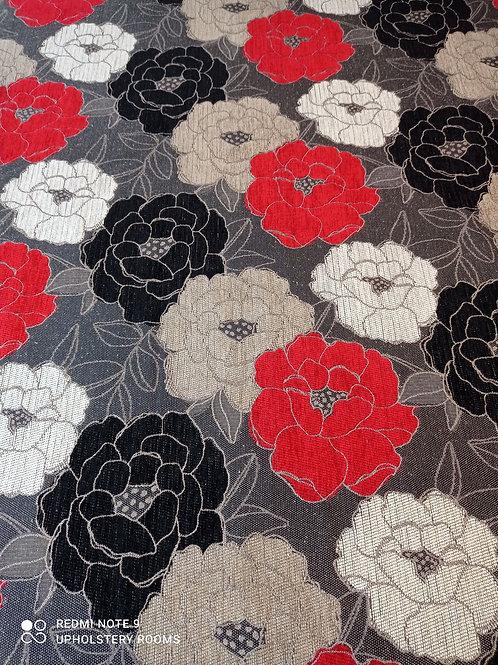 Remnant- Patterned Floral Chenille - 1M