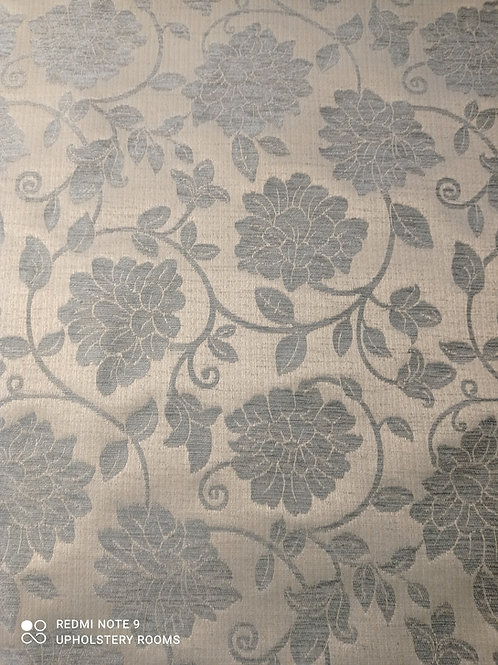Remnant- Patterned Floral Chenille Blue - 1 M