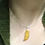 Thumbnail: Gold Resin Geode Stone Necklace