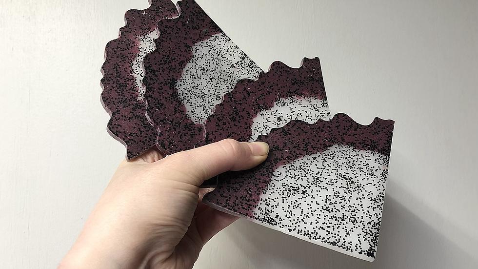 Dragon Fruit Slices Coaster Set🖤