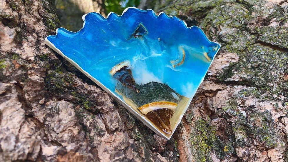 SOLD-Blue Lagoon Lemonade Coaster Set