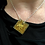 Thumbnail: Gold Glitter Square Pendant Necklace