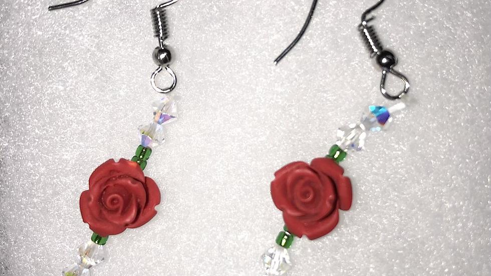 Rose bud earring set🌹