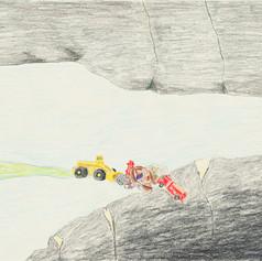 landmover pushing art history into canyon