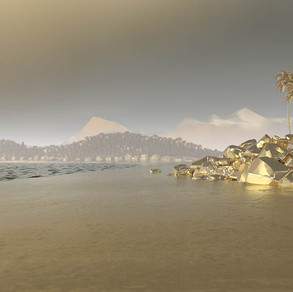 beach with rocks, 2020