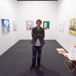 Car Salesmen Selling my Paintings at Art LA Contemporary Art Fair