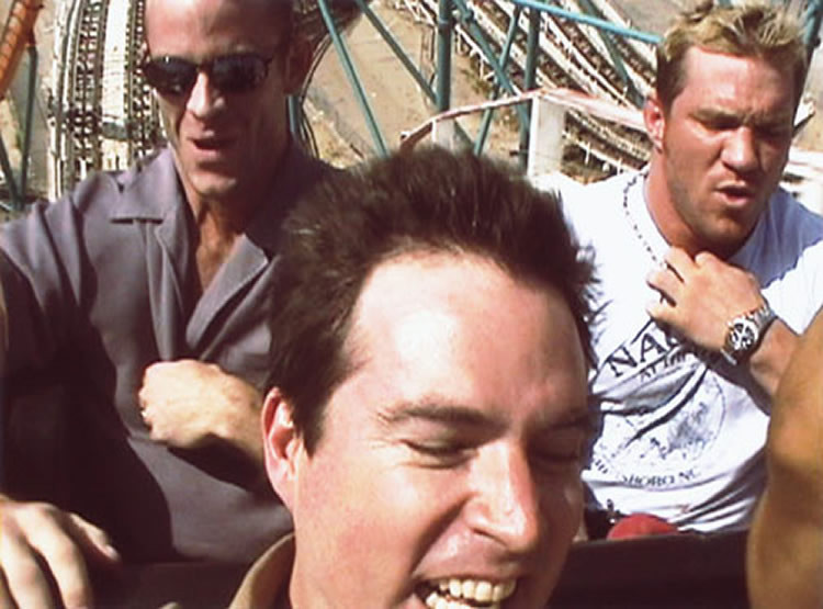 Riding with adult video performers (video still)