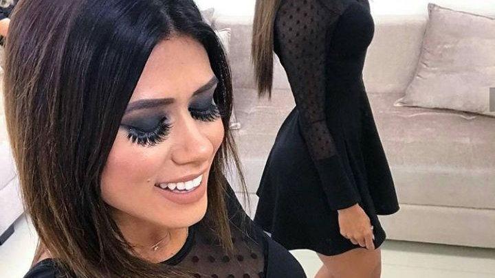 Vestido Feminino Preto de Festa Gode Acinturado Pimenta V04