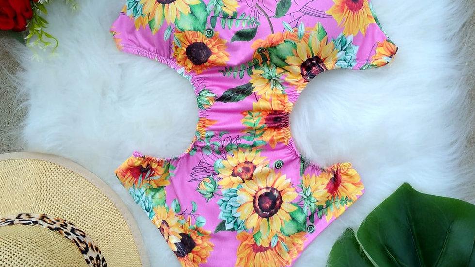Body Feminino  com Bojo Collant Muita Laicra B16