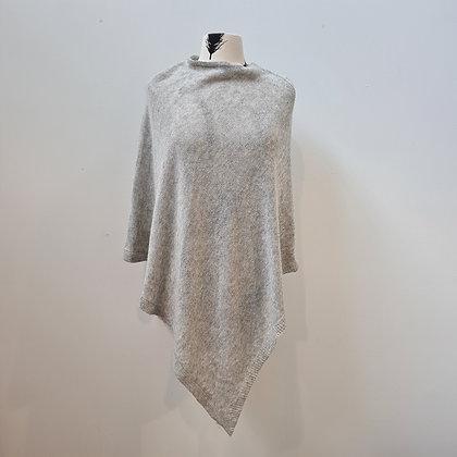 Grey Wool-blend Poncho