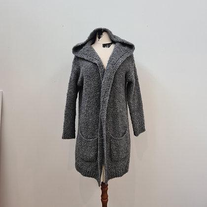 Wool blend Hooded Cardigan