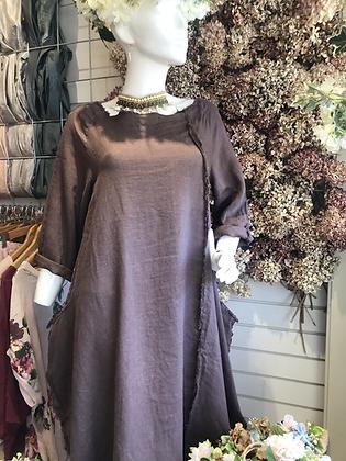 Frayed coat dress
