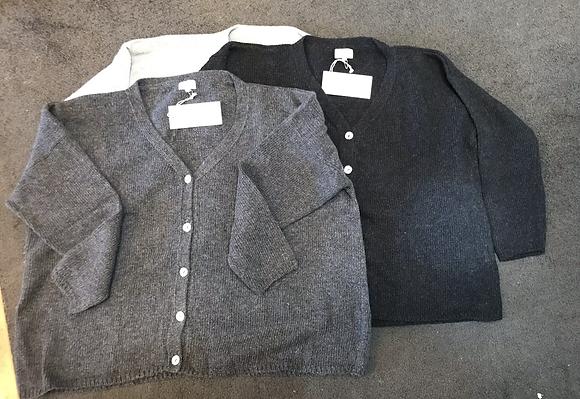 Grandpa cardigan 100% wool