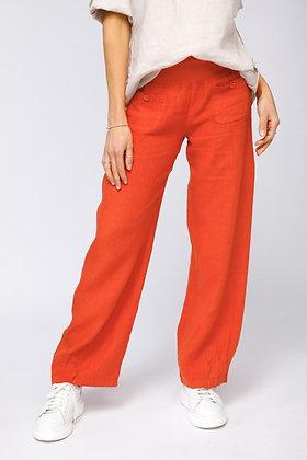 Button  Detail  linen Pants,customers favorite