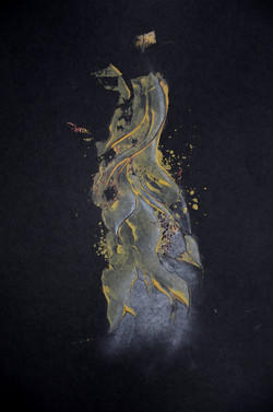 das kleid,acryl auf papier ,din a4 ,2014.JPG