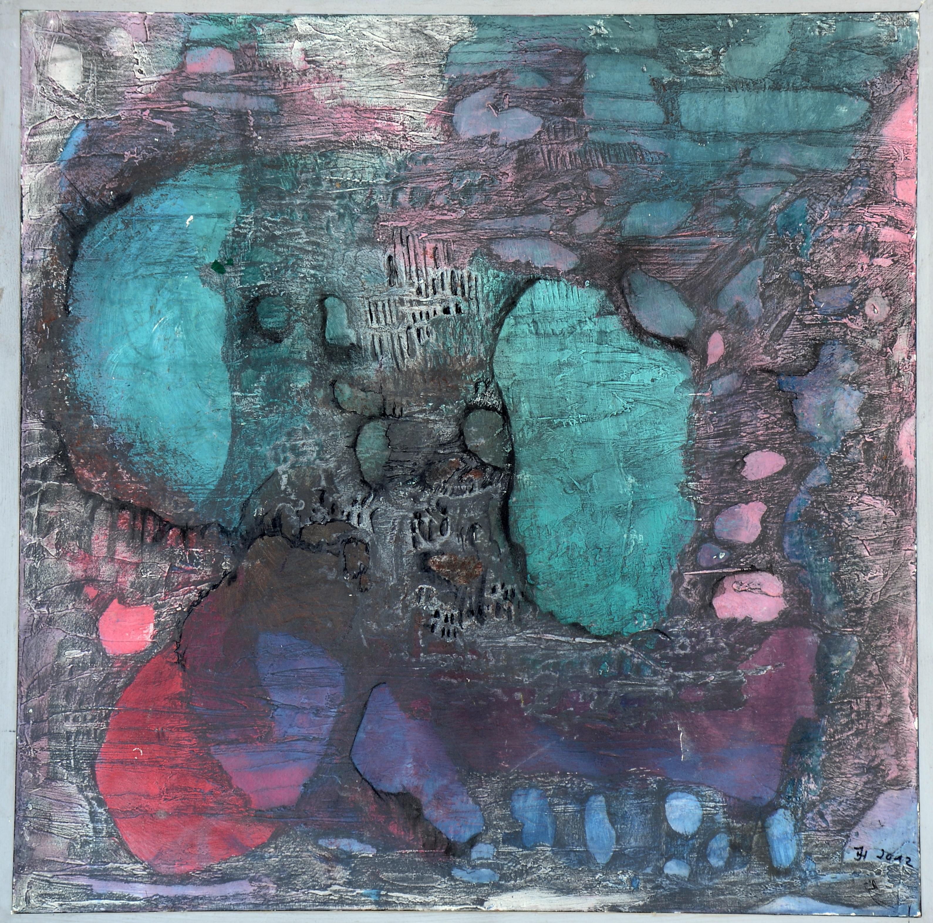 unterwasserwelt 2,(acryl auf MDF,50x50,2012
