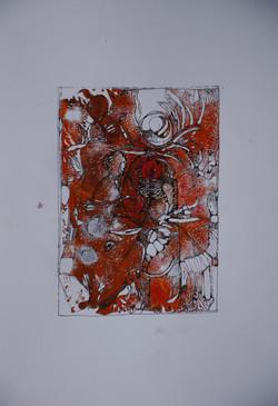 frau in rot,acryl,tusche auf papier,din a 4,2015.JPG