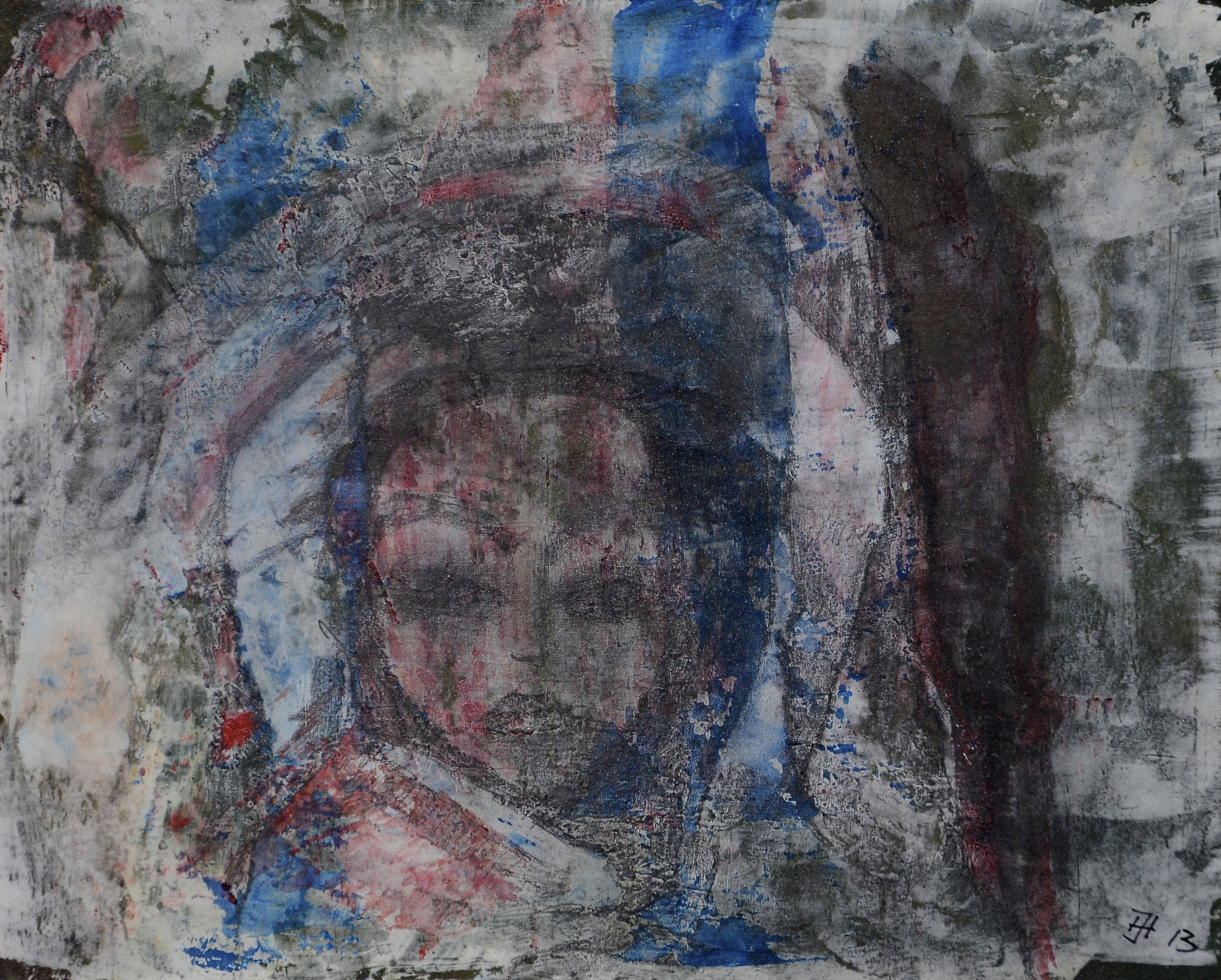 der blick,acryl auf MDF,16x20cm,2013.JPG