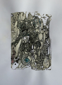 unterirdisch,acryl,tusche  auf papier ,din a 4 ,2015.jpg