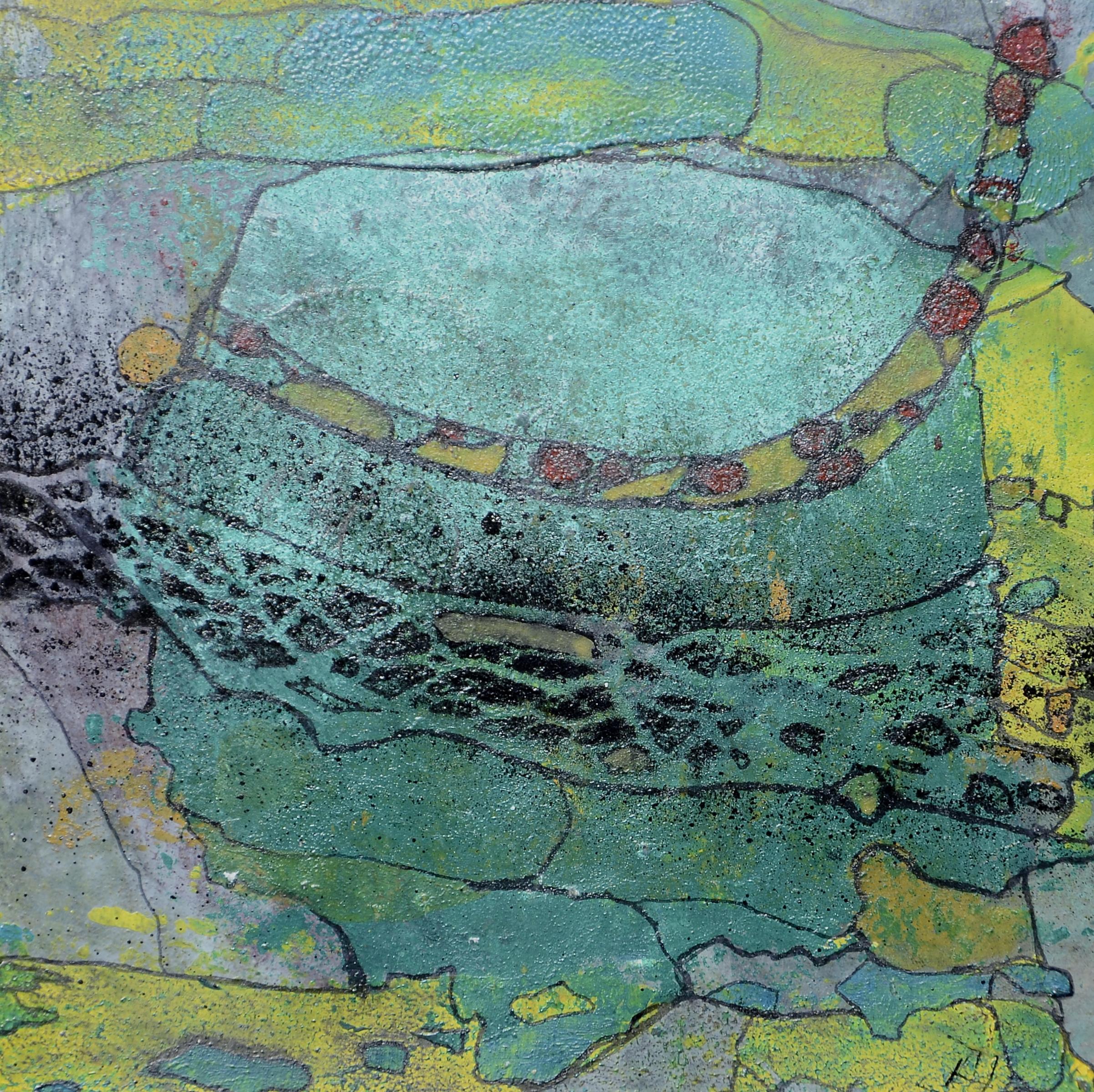 junge mit hut,acryl auf MDF,15x15,2012.JPG