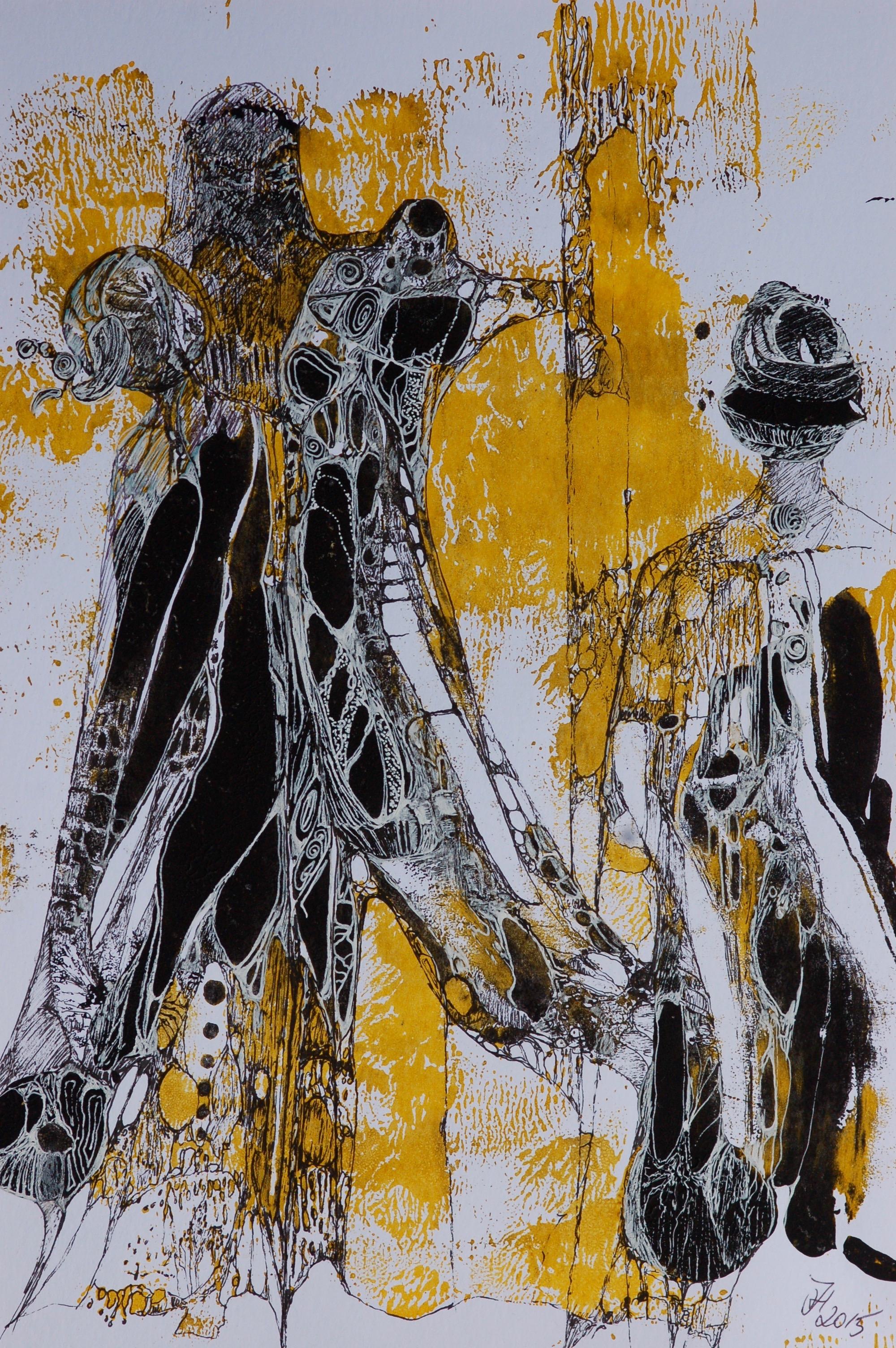 donne in giallo e nero