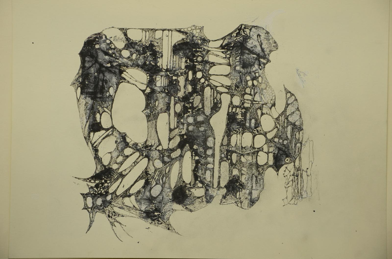 strukturen im fels,acryl,tusche auf papier ,din a4.2015.JPG