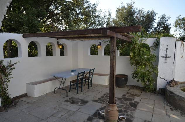 Untere Terrasse, Sitzbank Küche