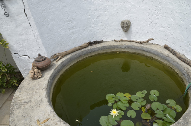 Brunnen der unteren Terrasse.