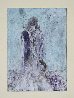 frau im lila kleid,10,5x 15cm ,acryl,tusche auf papier 2015.JPG
