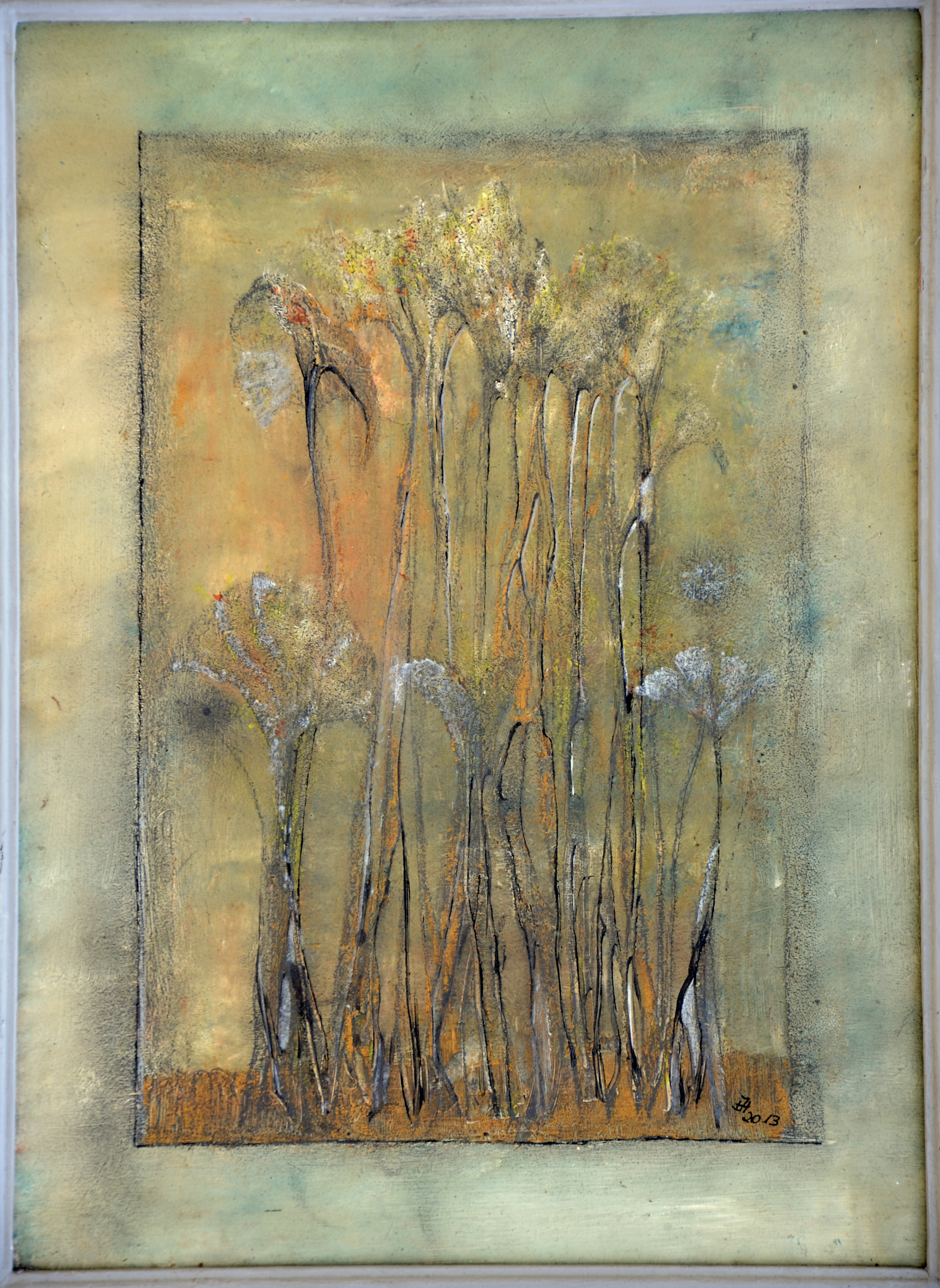 gräser ,(29x38,acryl auf MDF)2013