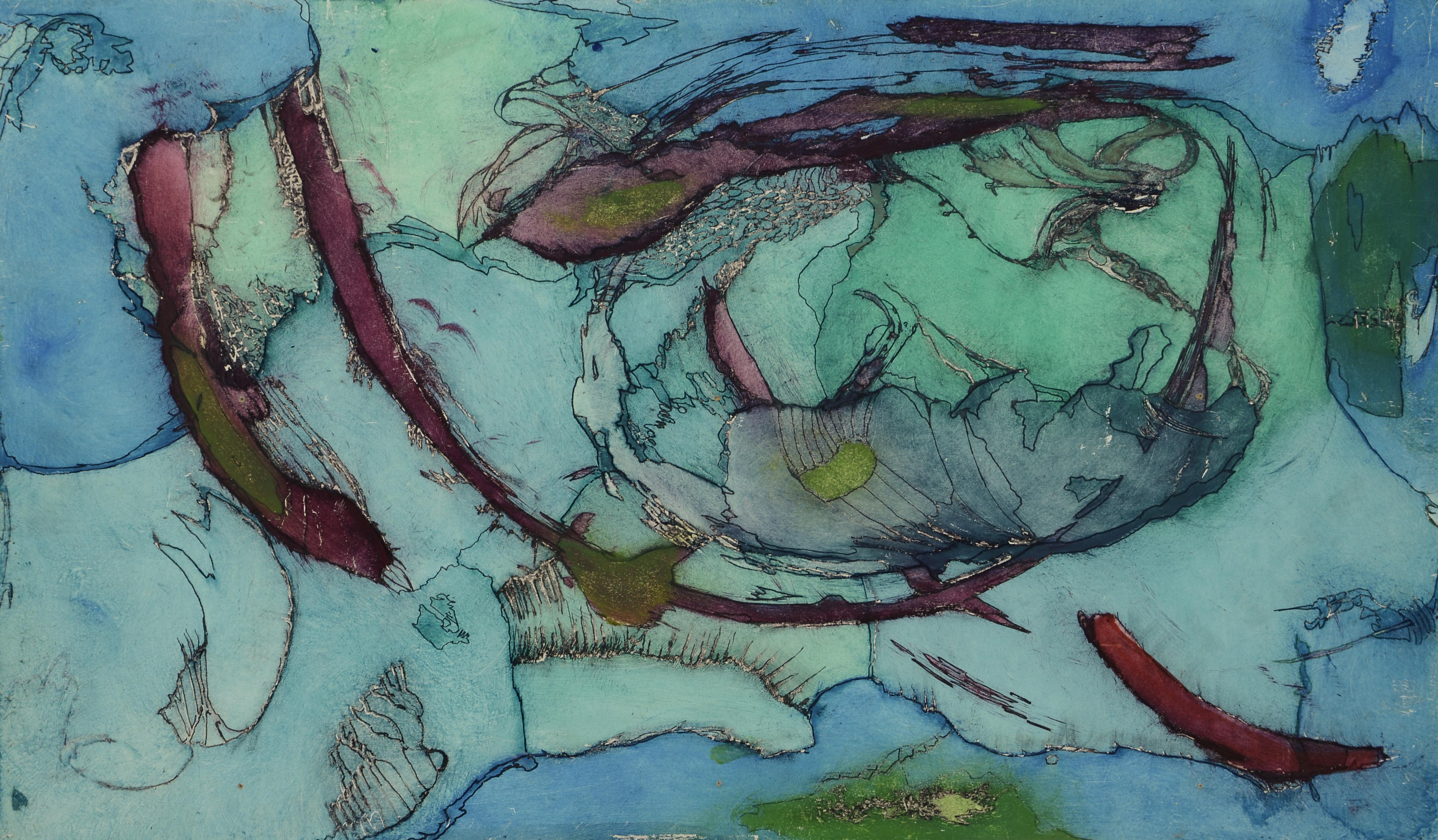 mikrokosmos,40x 67,5,acryl auf MDF,2011