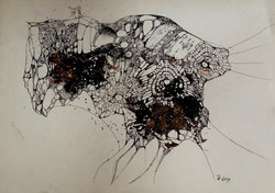 gewebtes.acryl,tusche auf papier,din a 4,2014.jpg