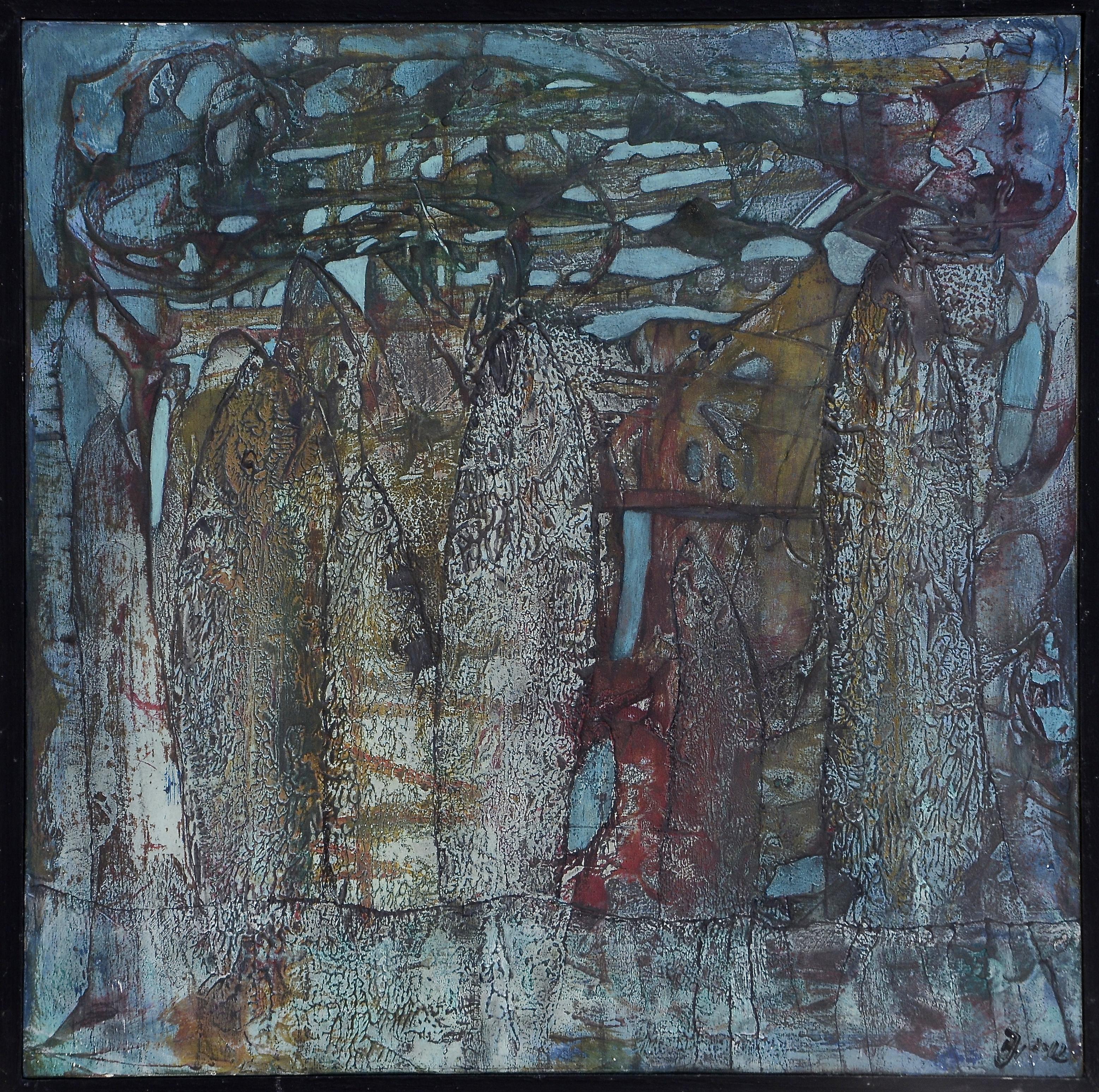 fische im netz,acryl,tusche auf MDF,35x35cm,2012.JPG