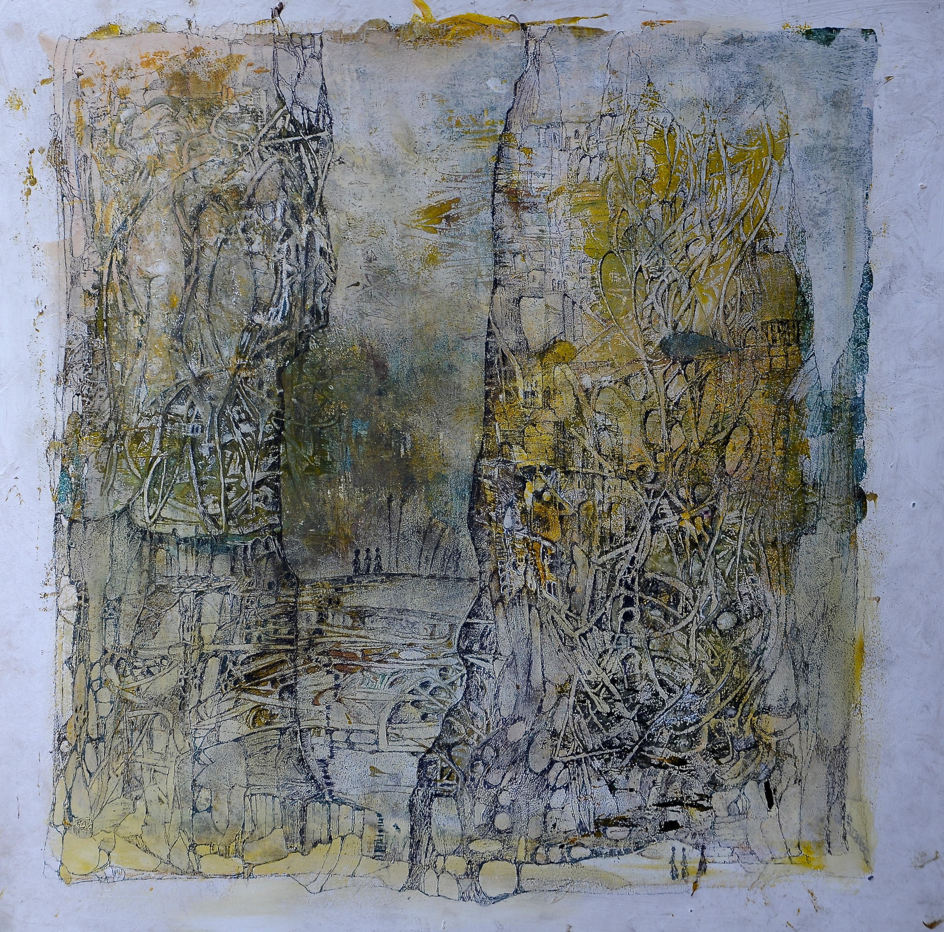 utopia,acryl,tusche, auf MDF,50x50cm,2015.JPG