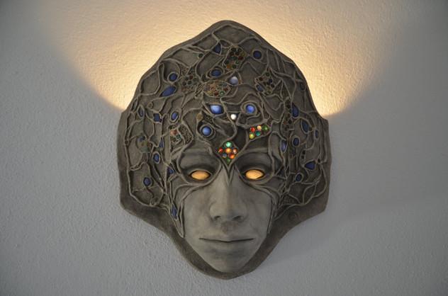"""Wandlampe """"Maske"""""""