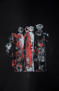 frauen im schwarz,acryl,tusche auf papier,din a 4,2015.JPG