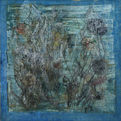 unterwasserwelten,Acryl auf MDF,50x50,2015)