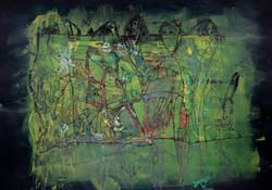 im_grünen..acryl,tusche (Verkauft)