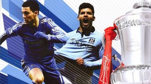 CHELSEA v MANCHESTER CITY 2012/13 F.A. Cup Semi-Final MATCHDAY PROGRAMME