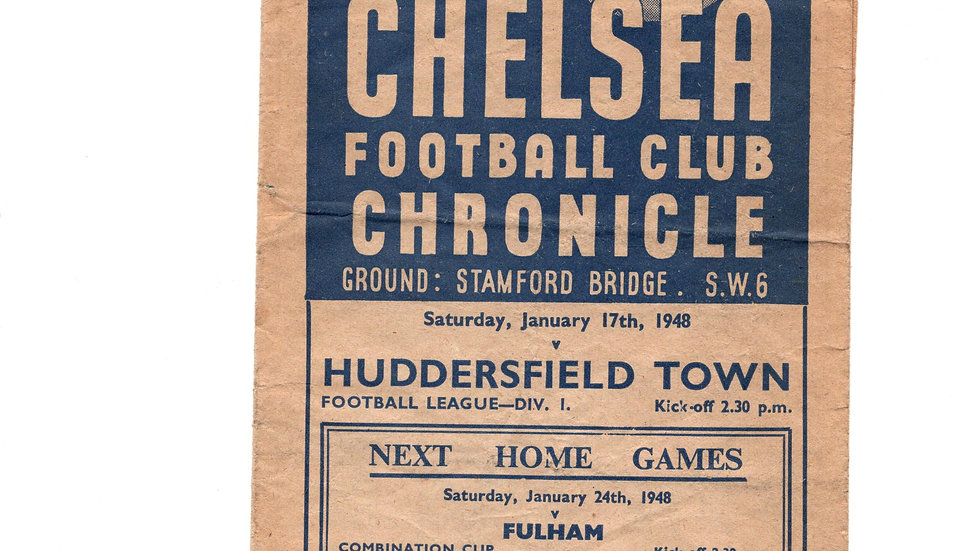 1947/48  League Division 1  OFFICIAL MATCH DAY PROGRAMME  CHELSEA v HUDDERSFIELD