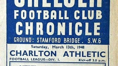 CHELSEA v CHARLTON ATHLETIC 1947/48 MATCHDAY PROGRAMME