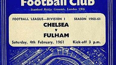 CHELSEA v FULHAM 1960/61 Division 1 MATCHDAY PROGRAMME